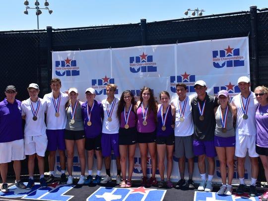 The Mason High School tennis team poses with their