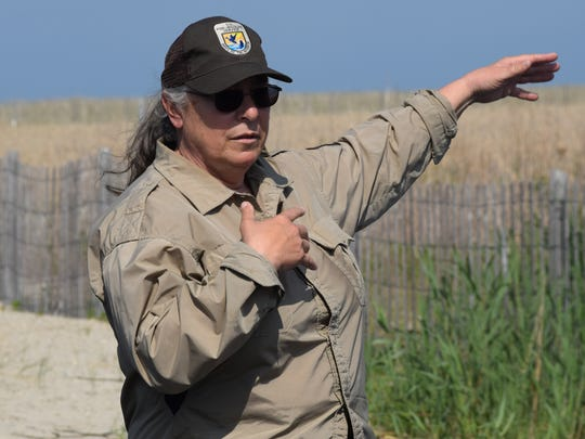 Wildlife biologist Annie Larsen talks about how a restoration of Fowler Beach has provided habitat for shorebirds such as nesting piping plovers.