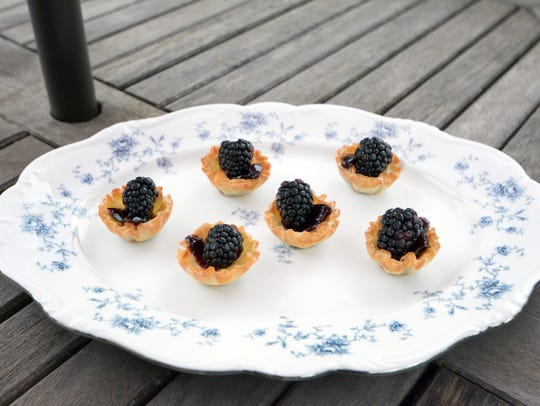 Brie and Blackberry Tarts couldn't be simpler.