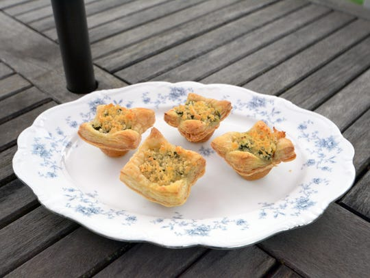 Spinach, Crab and Artichoke Mini Tarts make tasty use