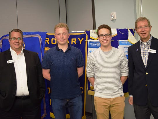 Pictured are Fond du Lac Noon Rotary's May student