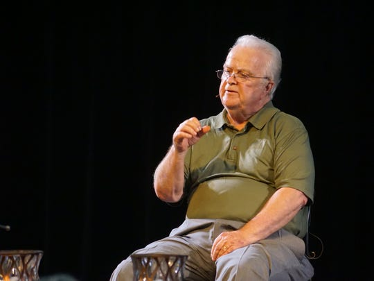 David Billings speaks at First United Methodist Church in Maryville on Sunday, May 27, 2018.