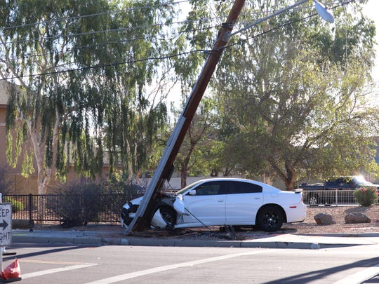 Nearly 1,300 customers lost power in Peoria when a car hit a pole early May 31, 2018.