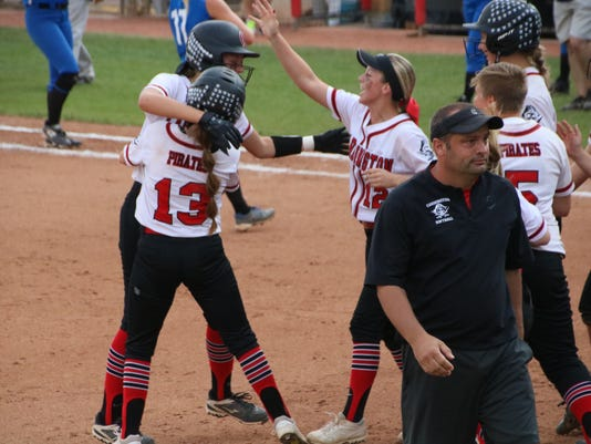 Cardington celebrate state softball semifina
