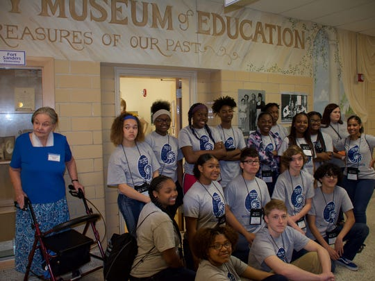 This group from Project GRAD recently helped out at