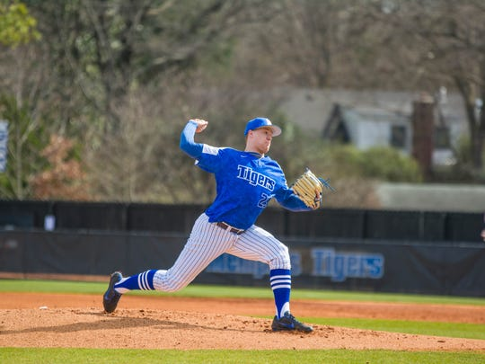 Memphis Tigers pitcher Jonathan Bowlan, was a second-round