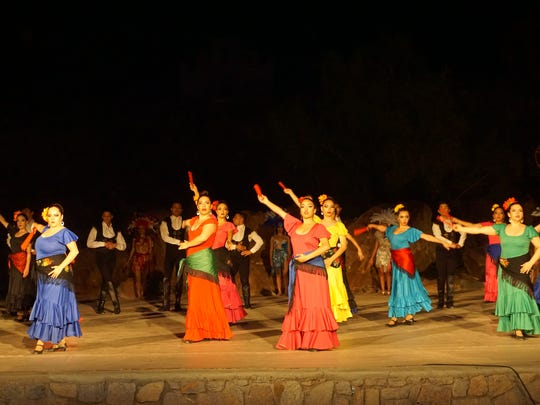 Viva! El Paso features Sevillana dances to show the influence of the Spanish in the history of the Borderland.