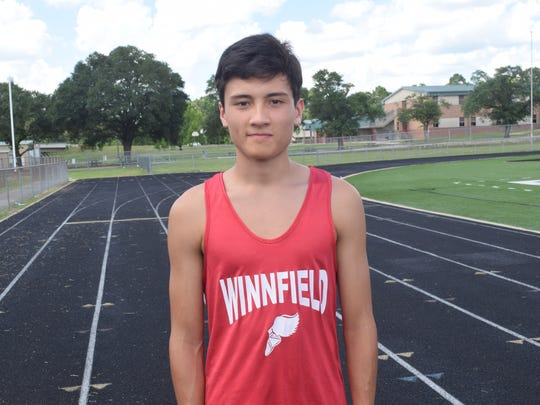 Tyler Hight of Winnfield Senior High School is one of the three All-Cenla Track & Field MVPs along with John Joseph of Pineville High School and Amber Bruce of Tioga High School.