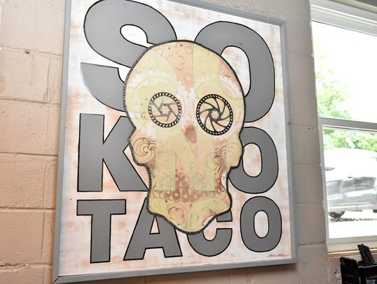 SoKno Taco Cantina is decorated with eye-catching prints