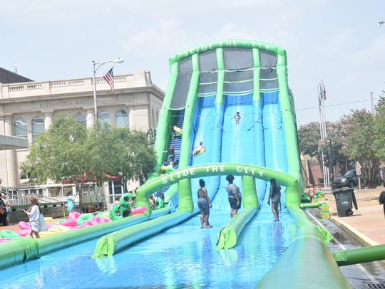 A giant water slide was one of the highlights of Summer Splash. About 3,500 people attended the recreation event in Alexandria on June 30.