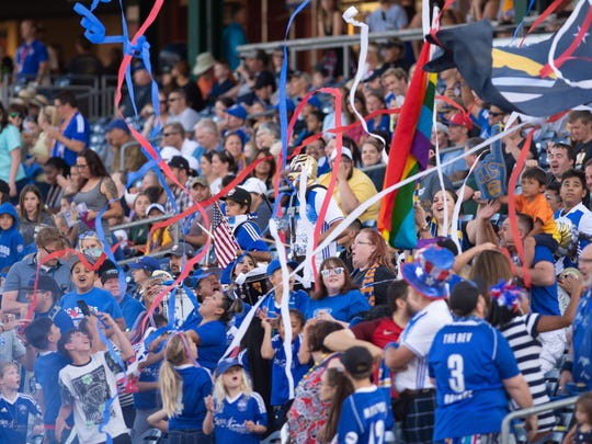 Reno 1868 FC's beat Real Monarchs 3-0  on Tuesday,  at Greater Nevada Field in downtown Reno.