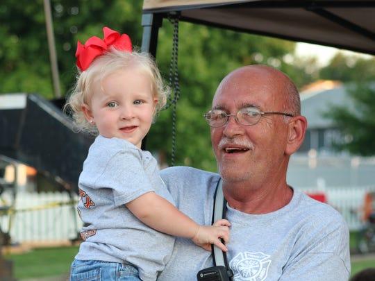 Harper and grandfather, Rick Millikan enjoy time at
