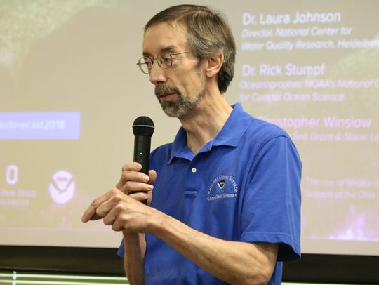 Rick Stumpf, NOAA's lead oceanographer for the Lake