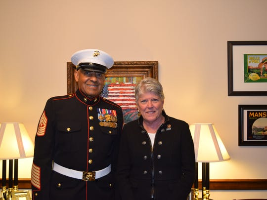 Retired Marine Sgt. Maj. John Canley was U.S. Rep. Julia Brownley's guest at the State of the Union address in January.