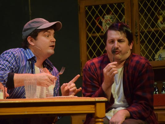 "Ross Schexnayder (right) stars as Charlie Baker and Kody Walker as Ellard Simms in Lagniappe Theatre's ""The Foreigner."" The show opens at 7 p.m. Thursday evening, July 19, 2018 at Coughlin-Saunders Performing Arts Center and will run until Sunday, (July 22, 2018). Showtimes are at 7 p.m. Thursday through Saturday and at 2:30 p.m. Sunday. This comedy is set at a fishing lodge in rural Georgia. Froggy, a British demolition expert brings along a friend named Charlie who is shy and can't talk to strangers. Froggy tells others at the lodge that Charlie can't speak English. Hijinks ensue with Charlie witnessing bizarre events and others telling him secrets.