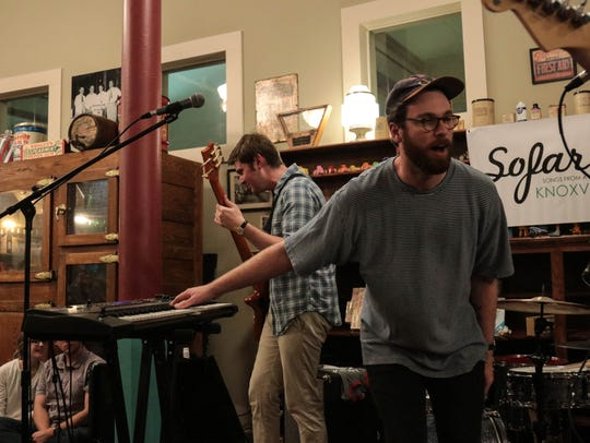 The Brook & The Bluff, a Birmingham-based band, performs