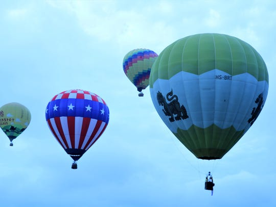 Balloons of all shapes and sized took flight on the second day of the QuickChek New Jersey Festival of Ballooning at Solberg Airport in Readington on July 28 at 8:30 a.m.
