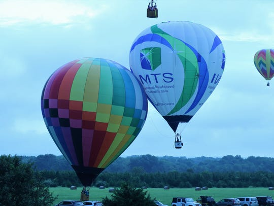Balloons of all shapes and sized took flight on the