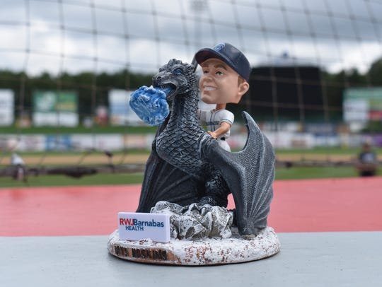 The sold-out of bobblehead  of former Lakewood BlueClaws