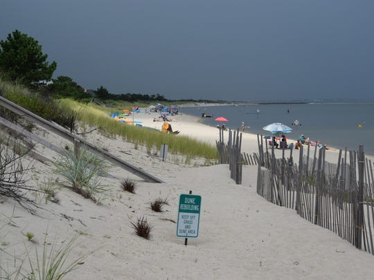 This state-maintained beach and dune protect the homes on Lewes Beach - some worth well over $1 million - from storm surge.
