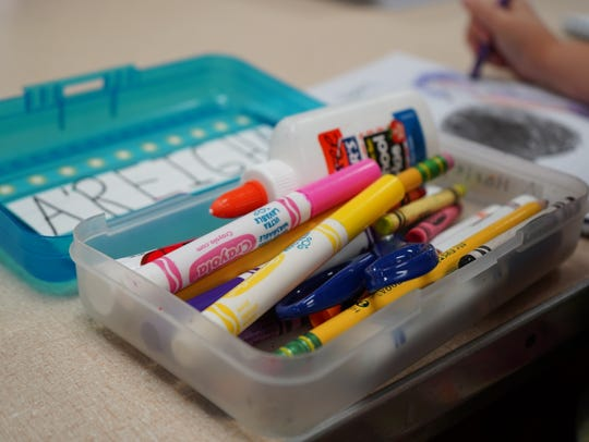 School supplies at Little Scholars Preschool in Wausau