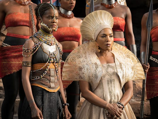 Angela Basset plays the Queen Mother Ramonda and Letitia