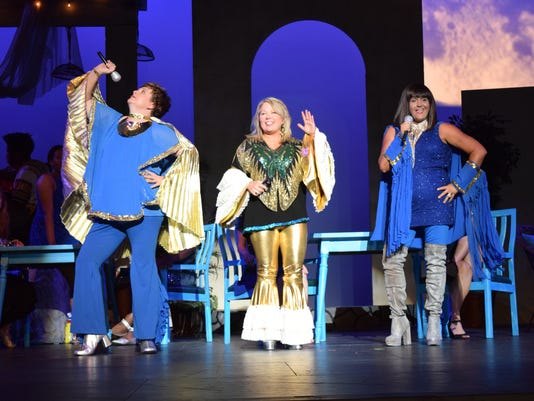 """LBM Productions is set to present """"Mamma Mia!"""" beginning Thursday, Oct. 18, 2018.Performance dates are this Thursday through Sunday and Oct. 25-28 at the Coughlin-Saunders Performing Arts Center. Times are 7:30 p.m. Thursday, Friday and Saturday and 2:30 p.m. Sunday. """"Mamma Mia!"""" Is about a woman who runs a hotel on a Greek island who is preparing for her daughter's wedding. The daughter secretly invites three men her mother knew in her youth to the wedding hoping to find out which one is her father so he could walk her down the aisle on her wedding day."""