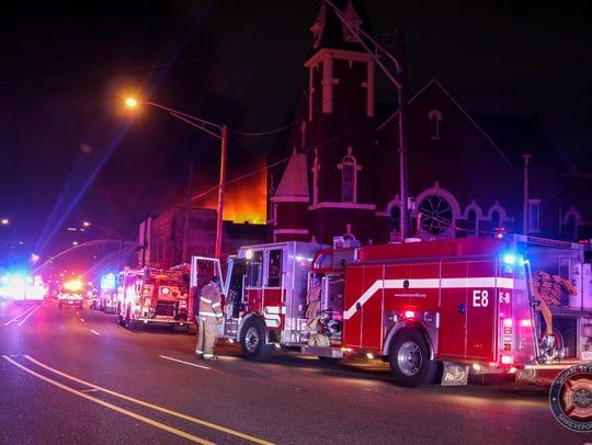 The Shreveport Fire Department battled an early Sunday