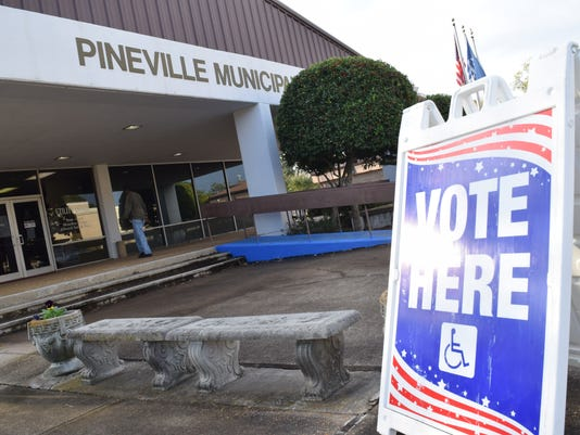 Voting was steady at voting precincts in Alexandria and Pineville Tuesday, Nov. 6, 2018.