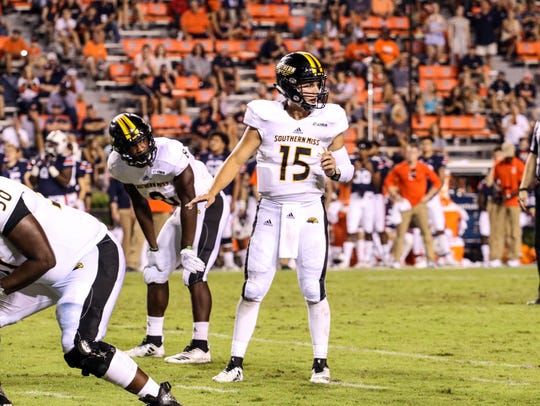 Southern Miss quarterback Jack Abraham is second in