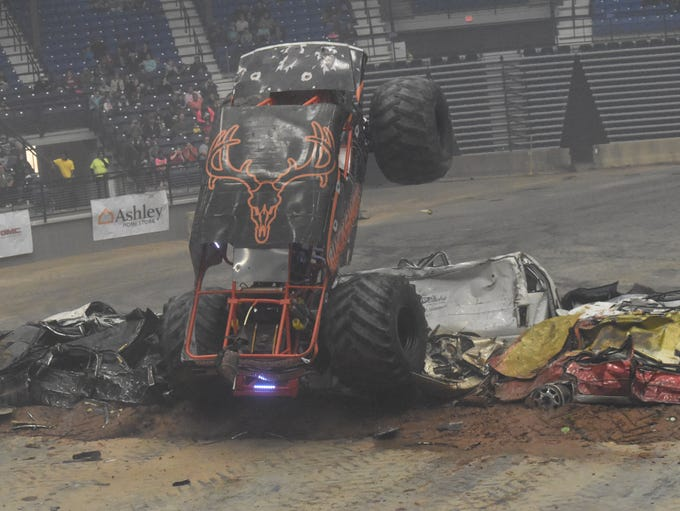 The Monster Trucks Winter Nationals was held Friday,