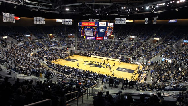 Lawlor Events Center is shown during a CBI game in 2016.