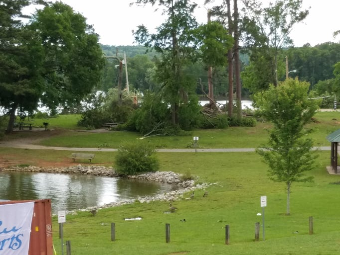 Storm damage at The Cove at Concord Park after a storm