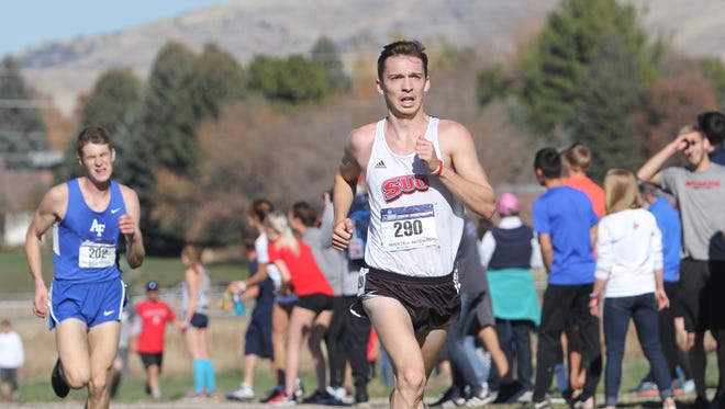Southern Utah's Kasey Knevelbaard has helped lead the Thunderbirds' men's cross country team to an historic high in the national rankings.