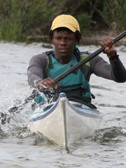 Chevaughn Dixon trains volunteers in water rescue techniques at the Yonkers Paddling and Rowing Club June 13, 2016.