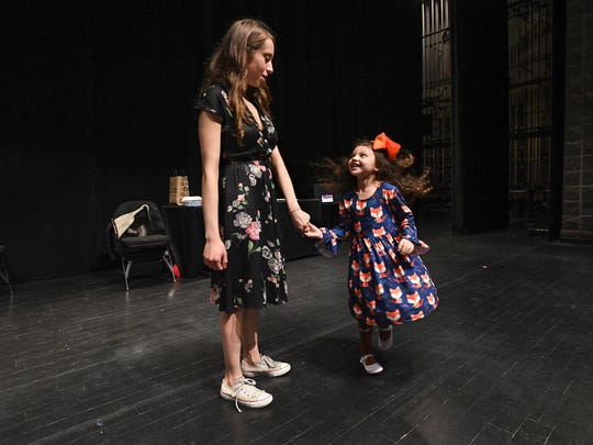 Waitress Assistant Director Susanna Wolk auditions Cambree Ross during an open casting call for the character of Lulu in the Broadway play coming to Greenville in May. The part is cast locally in each tour market and two girls will be chosen to alternate in the role at the Peace Center.