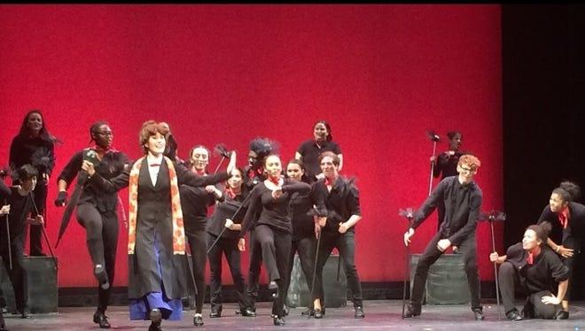 "The Vineland High School Cap 'n' Dagger Club's performs ""Mary Poppins."""