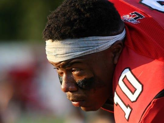 Lexington's Darrius Bomer (10) feels God's presence when he is on the football field.