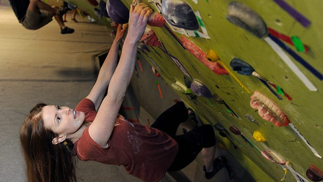 After a miscarriage last year, Dara Bacon invested in a three-month climbing membership at ClimbNashville. She's been climbing ever since. It has helped her grieve and heal.