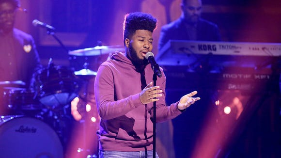 """El Paso singer-songwriter Khalid performs his hit song """"Location"""" on """"The Tonight Show Starring Jimmy Fallon"""" on Wednesday."""
