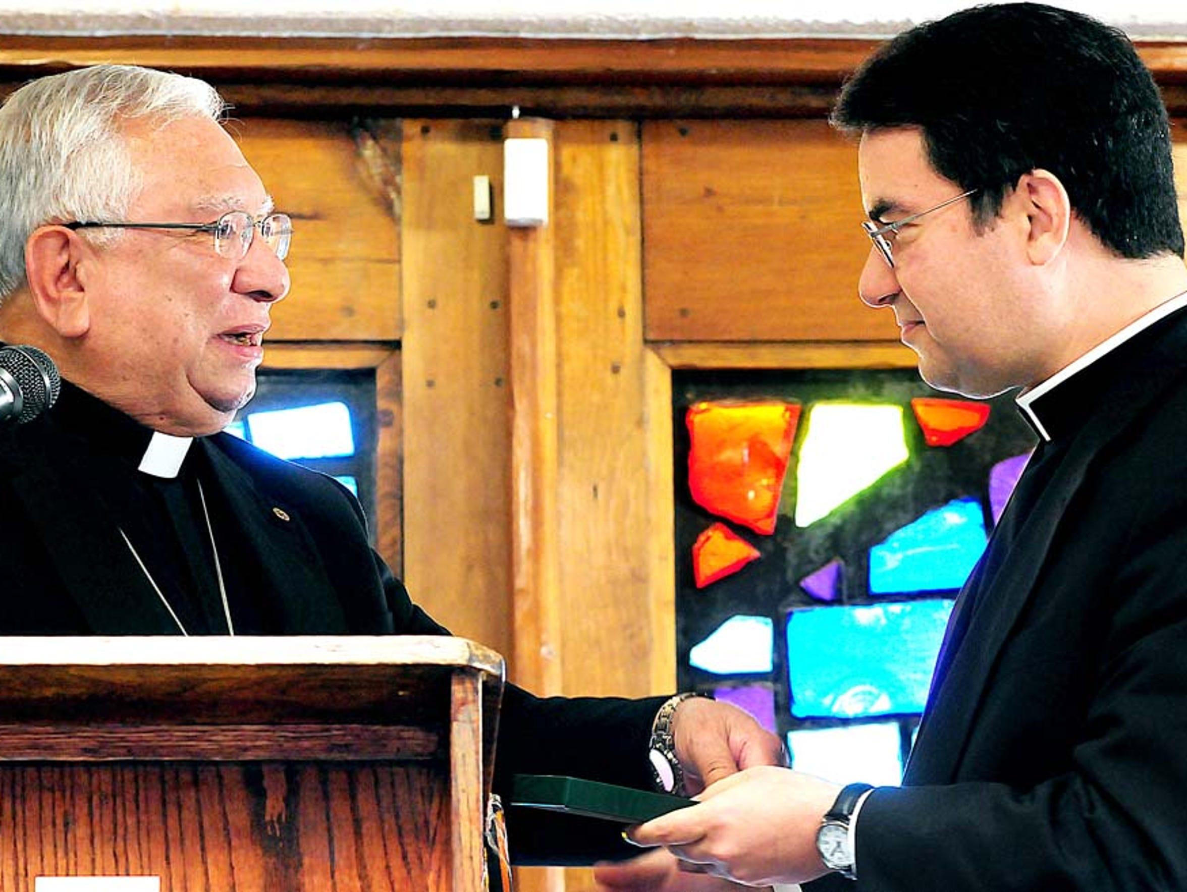 Bishop Emeritus Ricardo Ramirez and Bishop Oscar Cantu,