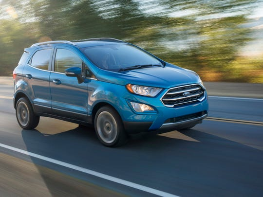 The 2018 Ford EcoSport, a subcompact crossover that