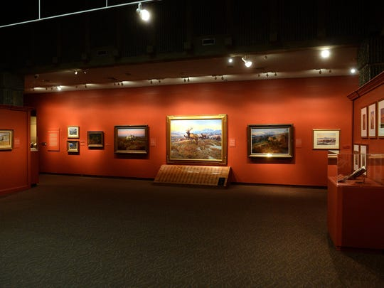 C.M. Russell paintings on display at the Russell Museum.