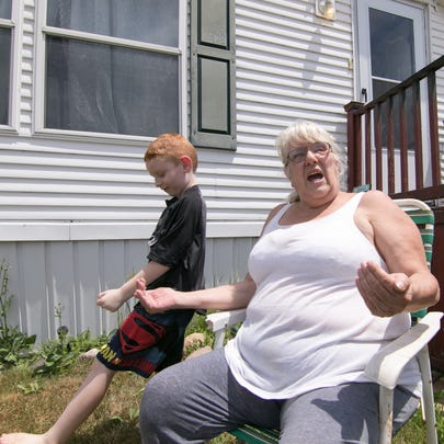Donna Tottingham-Lock, with her grandson Joseph Rambarger