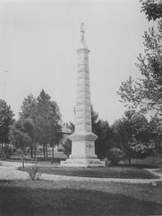 The Confederate monument in Bethel Cemetery in East