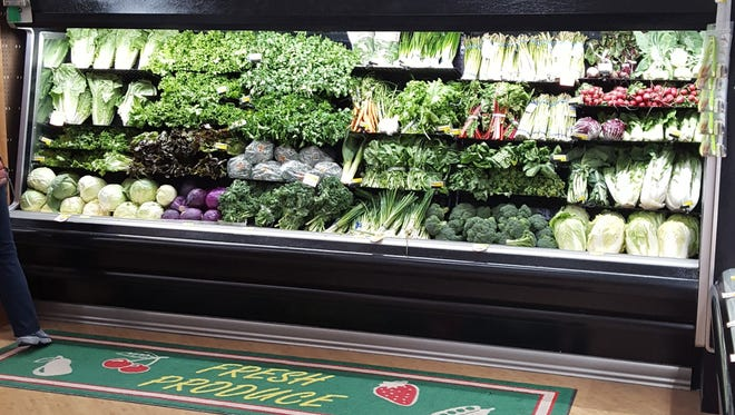 Produce department at Fox's Piggly Wiggly in Manitowoc.