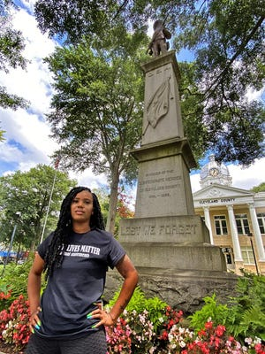 Alexsis Vinson says relocating the Confederate Monument would help Shelby better represent people of all races and backgrounds.