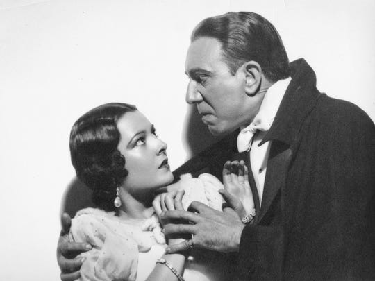 """Lupita Tovar -- here menaced by Carlos Villarias in the 1931 Spanish-language version of """"Dracula"""" -- lived to be 106."""