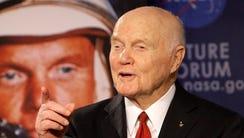 John Glenn was the first American to orbit the earth,