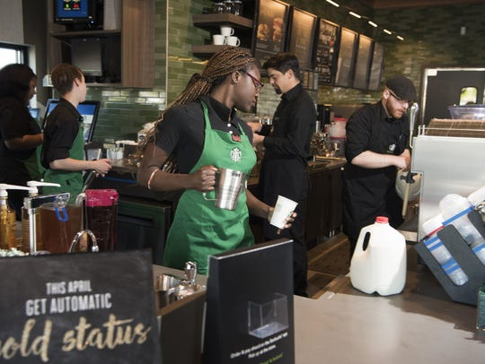 About 8,000 Starbucks around the country are participating